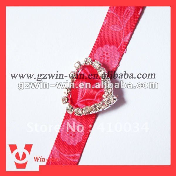 Free shipping LOVE HEART  wedding invitation rhinestone buckle sliders, 200 pcs per lot.