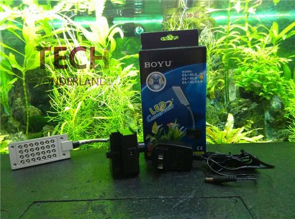 Аквариум <font><b>LED</b></font> Обрезается света fish tank водных растений лампы свет BOYU CL-4L4 100-240 В бесплатная доставка