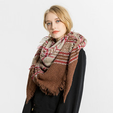 2018 Popular Autumn Winter Scarf Soft Warm Cashmere Pashmina bufanda mujer scarf women