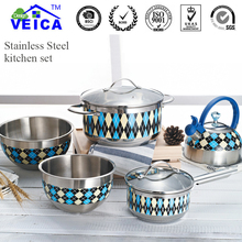 Jogo De Panelas Kitchen Cooking Pots Limited New Stainless Steel Cooking Pots And Pans Set Pan Cookware With Colordesign