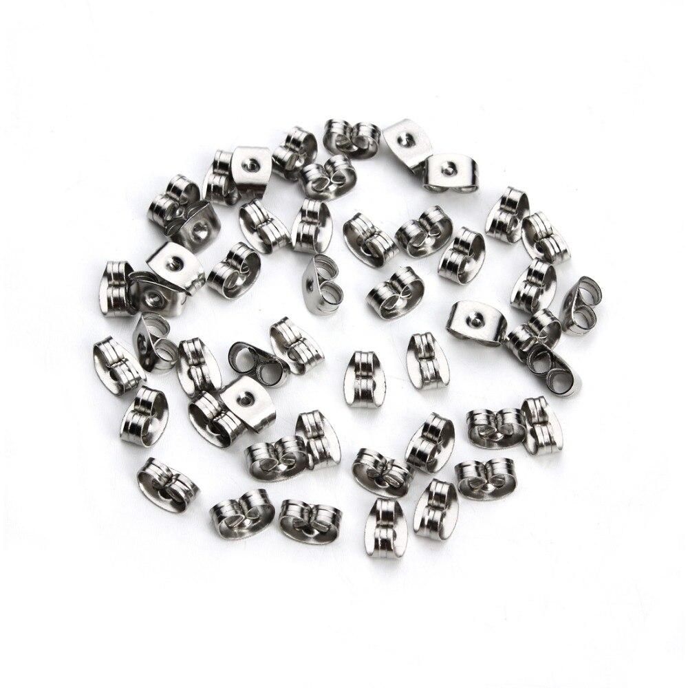 Louleur 50 шт/лот серьги из нержавеющей стали заглушка для задней