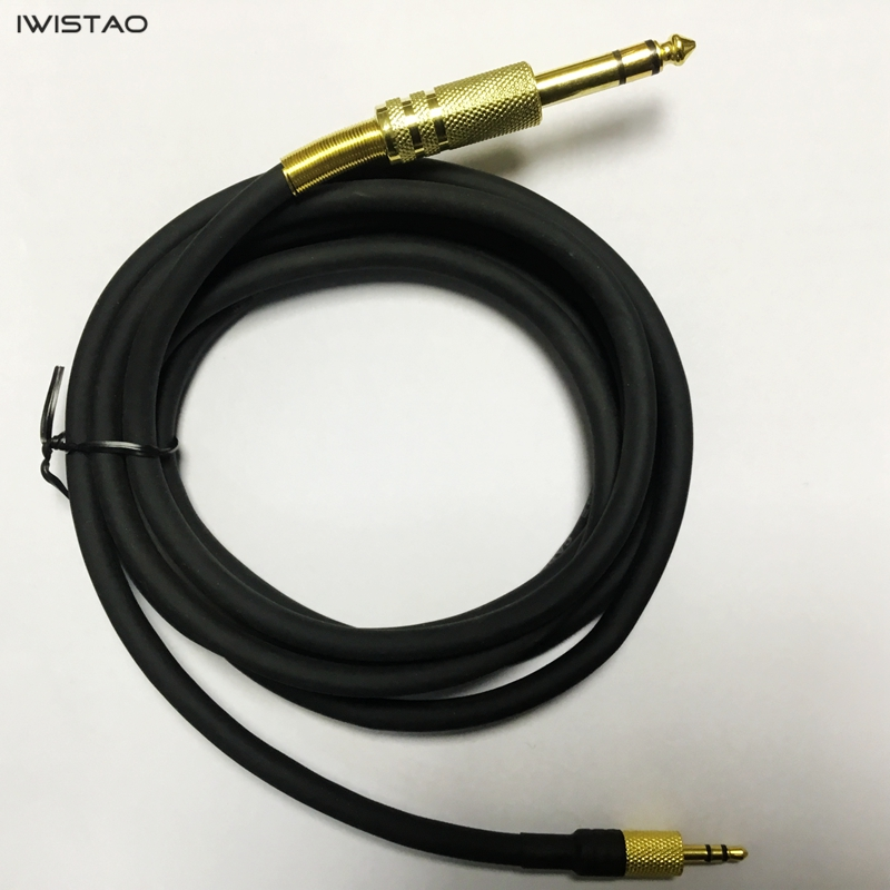 IWISTAO OFC Audio/Video High Grade Cable 6.5mm to 3.5mm Stereo Sound Console Copper 2m to 10m Black Free Shipping