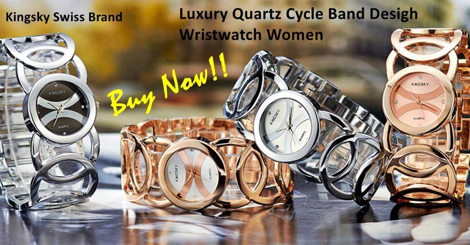 Luxury Quartz Wristwatch Women