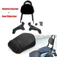 Motorcycle Rear Passenger Seat Side Arms Pad + Backrest Sissy Bar for Yamaha XVS950 XVS 950 R Spec 2014 2015 2016