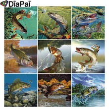 DIAPAI Diamond Painting 5D DIY Full Square/Round Drill Animal fish scenery 3D Embroidery Cross Stitch Decor Gift