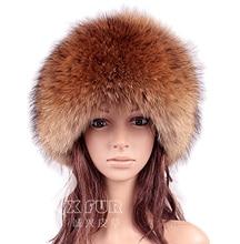 Cx-c-166a мода стиль женские зимние подлинная енота меховая шапка