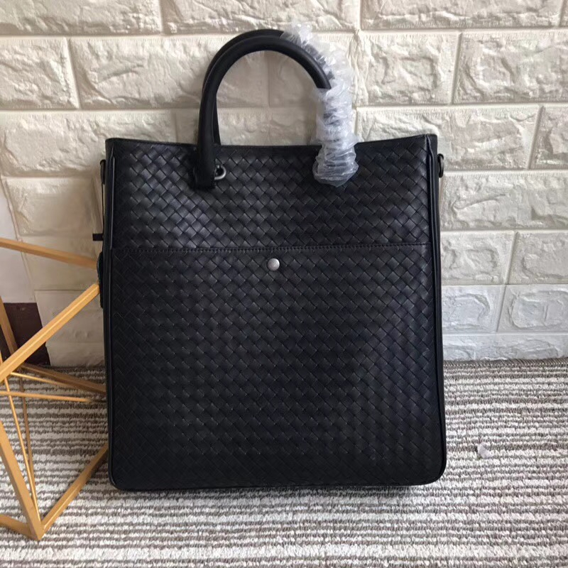 Briefcase 2018 Men's business High quality cowhide The single shoulder bag Handbag Zipper leather braided bag High-capacity