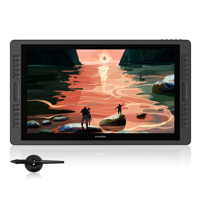 HUION Kamvas Pro 22 más nuevo 21,5 pulgadas Pen Tablet Monitor Digital gráficos dibujo Monitor sin batería 8192 niveles
