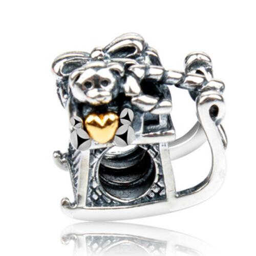 Европейский красочный сплав бусины эмаль кости пчела робот сердца Подвески-шармы Pandora Браслеты для женщин Изготовление ювелирных изделий