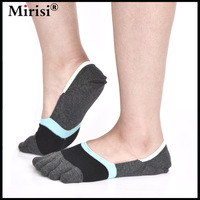6 pairs/lot Low Cut No Show Grey and Black Hand Linking Knitted Toe Socks Man Easy Chic and Fashion