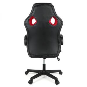 Image 5 - חדש מתכוונן משרד כיסא ארגונומי גבוה בחזרה פו עור משחקי כיסא מסתובב שכיבה בכיר מרופד הדום כיסא HWC