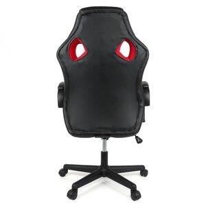 Image 5 - Yeni ayarlanabilir ergonomik ofis koltuğu yüksek geri suni deri oyun sandalyesi döner uzanmış yönetici yastıklı Footrest sandalye HWC