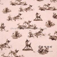 140X100 cm Sfondo Rosa Chiaro Retro Tessuto di Cotone per Neonato Vestiti Del Fumetto Bambi Bedding Set Cucito Patchwork-AFCK290