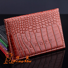 ZS crocodile pu leather Russia passport case holder male and female Russian passport cover credit card holder passport bag
