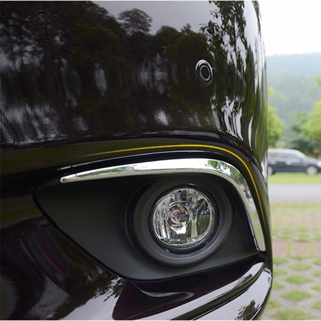 Fit For Atenza M6 GJ CHROME 2013 2014 2015 2016 Front Fog Light Lamp Cover Eyebrow Eyelid Garnish Streamers Outer Foglight trim