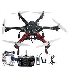 F05114-AS DIY Montado 6-Alxe F550 RC Drone RTF Kit Completo con APM 2.8 Vuelo Controlador GPS Brújula y Cardán