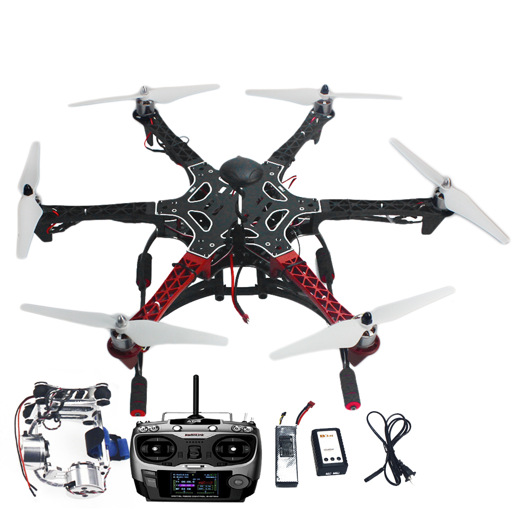 F05114-AS DIY RC Drone Assembled F550 6-Alxe RTF Full Kit with APM 2.8 Flight Controller GPS Compass & Gimbal