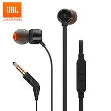 JBL T110 3.5มม.หูฟังสเตอริโอDeep Bassหูฟังชุดหูฟังกีฬาหูฟังสายควบคุมฟรีด้วยไมโครโฟน
