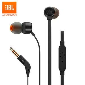 Image 1 - JBL T110 3.5mm 유선 이어폰 스테레오 음악 딥베이스 이어 버드 헤드셋 스포츠 이어폰 인라인 컨트롤 핸즈프리 마이크 포함