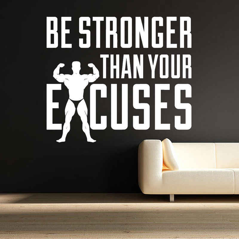 detail feedback questions about gym motivation quote wall decal