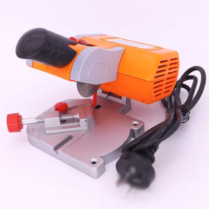 220V Table Cutting Machine Bench Mini Cut-off 0-45 Miter Saw Steel Blade 3/8 6000rpm 2 multi mini table saw bench cut off saw steel blade for cutting metal wood plastic with adjust miter gauge