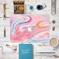 Мраморный цвет Зерна Передняя Крышка Ноутбука Наклейка Наклейка Чехол Для Apple Macbook Air Pro 11 13 15 Дюймов Защитная Крышка Кожи