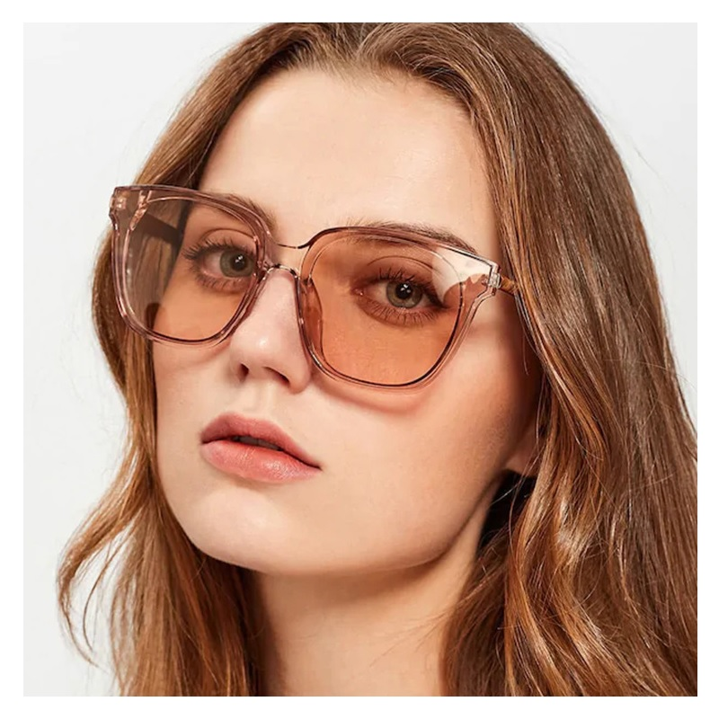 VKUES Women 39 s Sunglasses Fashion Square Oversized Vintage Luxury Sun Glasses Shades for Women Festival Sunglasses Drivers Mirror in Women 39 s Sunglasses from Apparel Accessories