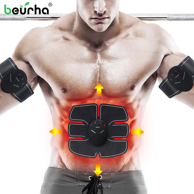 Dropshipping USB Charger EMS Abdominal Muscle Stimulator Trainer Electric Cellulite Massager Batteries Slimming Products Unisex