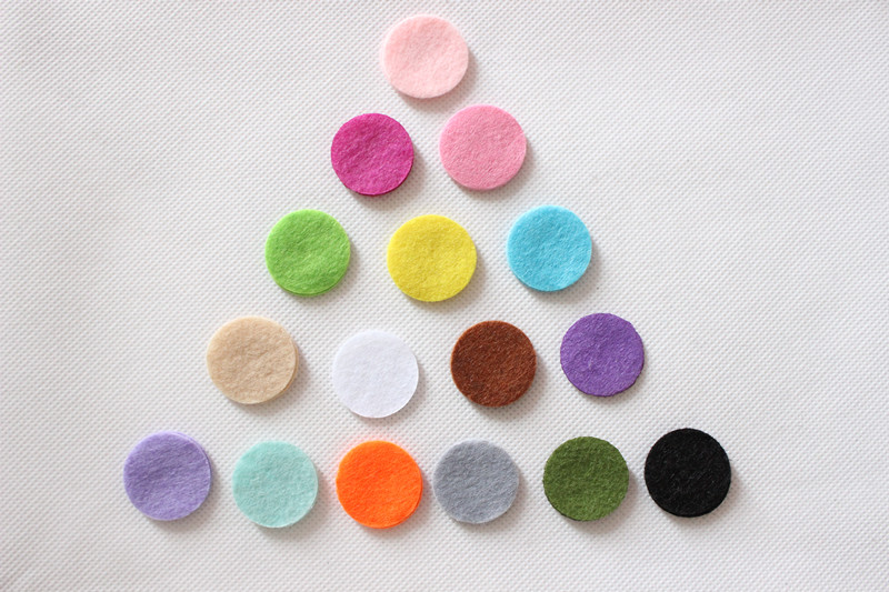 DIY 3.5CM Felt circle Round fabric pads accessory, fabric flower accessories for hair flower 1000PCS