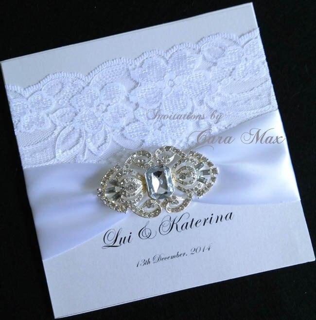 c49c0f28432b2 Ca0662 elegante vintage blanco Encaje invitaciones de boda en Y tarjetas de  Invitaciones de Hogar y Jardín en AliExpress.com