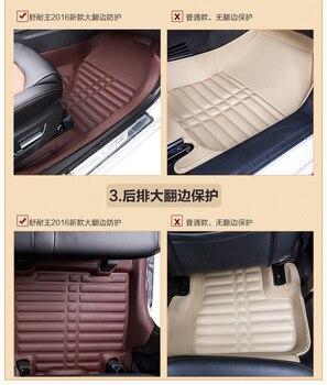 Myfmat custom foot leather car floor mats for Mazda 2 cx-5 ATENZA Familia Premacy sports Axela CX-3 MX-5 healthy anti-slip trend