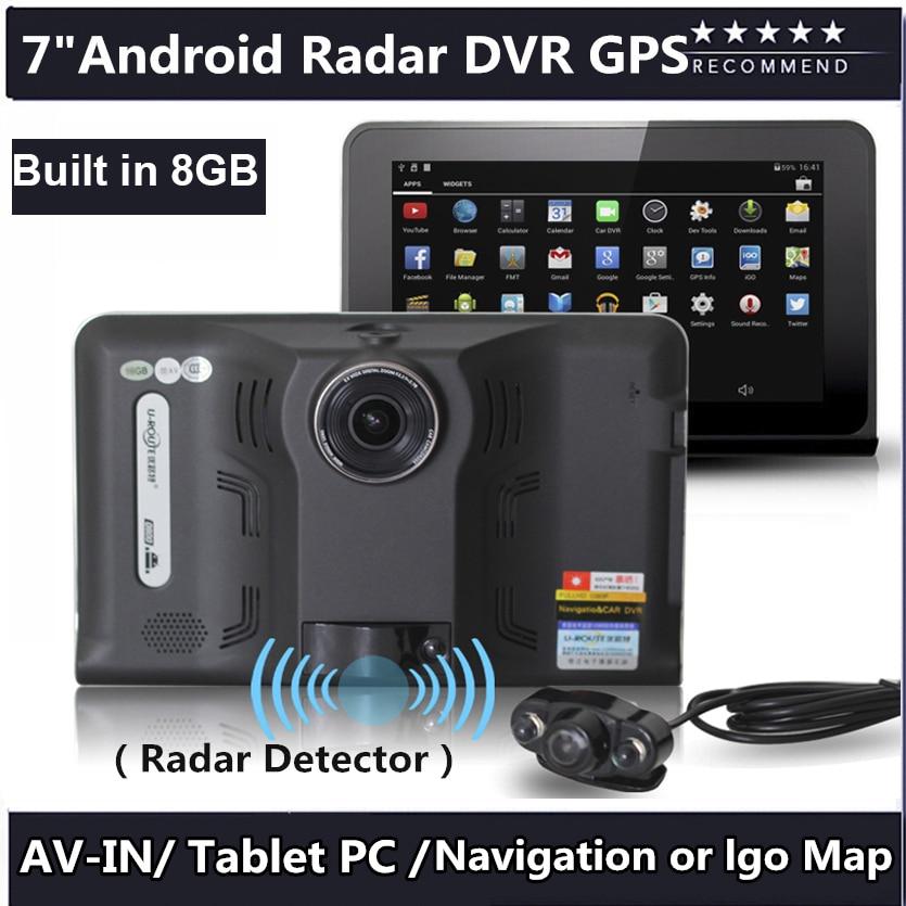 7 inch Car DVR GPS Navigation Android Radar Detector 1080P DVR 16GB Truck vehicle gps navigator navitel with Rear view camera gps navigator navitel navigator navitel navigation android - title=