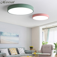 LED Ceiling Lights for Bedroom remote control 5cm ceiling lamp for 8-20square meters modern house lighting fixture Macaroon(China)