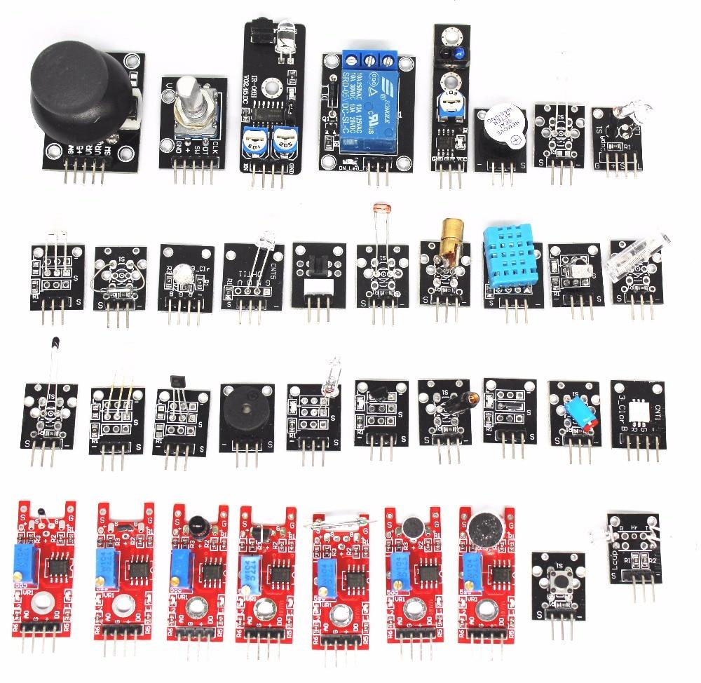 Automobiles Sensors Switch Control Signal Sensor 37 In 1 Box Sensor Module Kit For Arduino Starters Small Passive Buzzer Module Ky-006 2-color Led Module Ky-011 Etc
