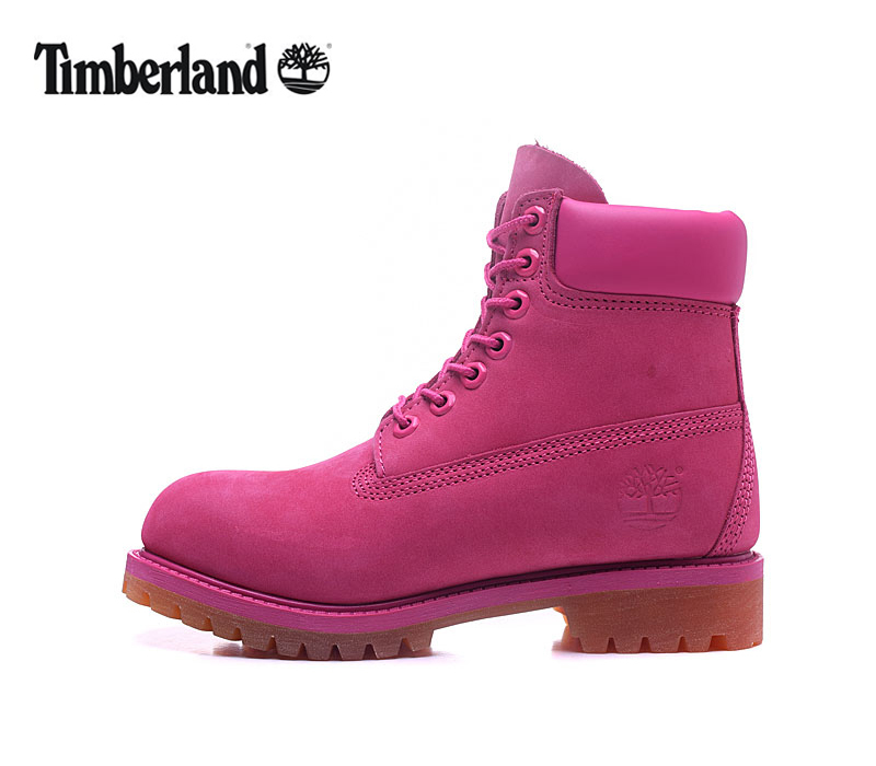 Original TIMBERLAND Women 10061 Pink Winter Boots,Woman Female Lovely Genuine Leather Ankle Anti-Slip Outdoor Warm Shoes 36-39.5