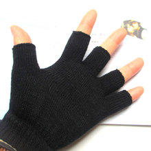 Popular Autumn And Winter Warm Half Finger Gloves Fashion Knit Mens Fingerless Computer Learning Casual