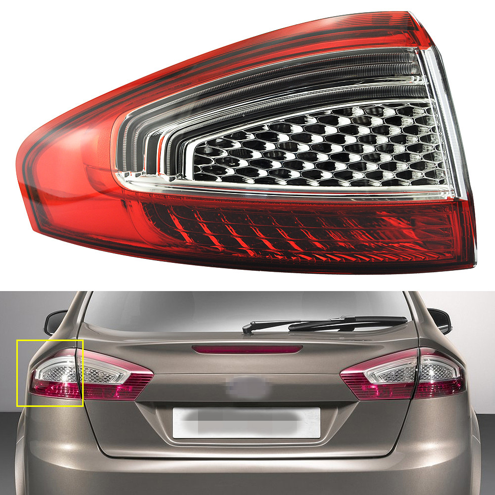 1Pcs Left Side Outer Rear Tail Light Lamp BS71-13405-AC for Ford Mondeo Fusion 2011-2012 2 pcs pair inside tail lamp rear light inner for ford mondeo fusion 2011 2012