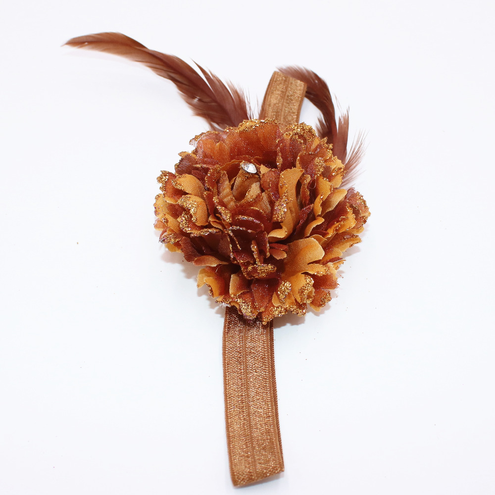 Beautiful baby hair accessories - Fashion Beautiful Children Flower Hair Band Baby Feather Hair Hoop Boutique Head Band Girls Hair Accessories