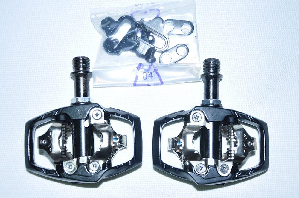 Original SYUN-LP M530 poids en alliage d'aluminium corps crmo axe titane axe oeuf beat XT SPD clipless vtt vélo pédale - 4