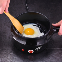 220V Multifunctional Electric Cooker 1L With Stainless Steel Steamer 2 In 1 Electric Frying Pot Steamer Mini Portable Cooker