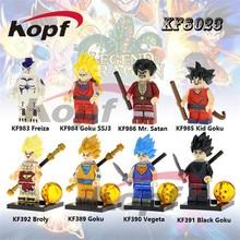 Building Blocks Super Heroes Dragon Ball Z Figures Vegeta Black Goku SSJ3 Freiza Mr. Satan Bricks Toys for children Gift KF8023
