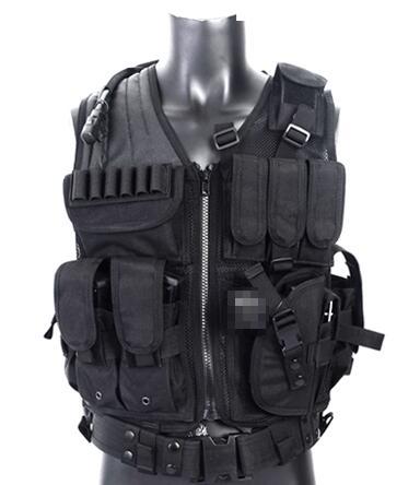 Gilet tactique militaire de Police gilet de chasse de tenue de sport d'armure de corps de Wargame CS gilet extérieur d'équipement de produits avec 5 couleurs - 3