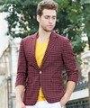 Frete grátis tiny check terno pequena grade estudante blazer terno venda Quente Alta Qualidade Homens Ternos elegantes Ternos blazer verão