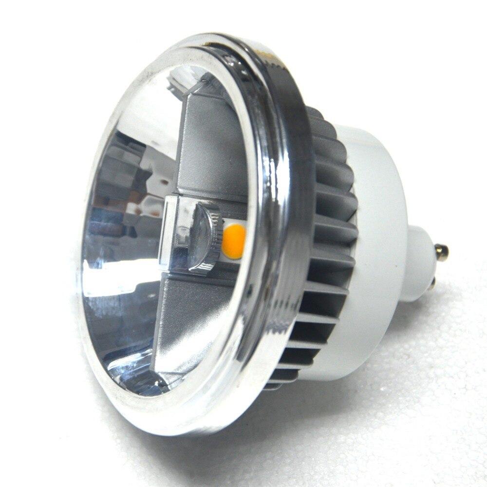 Led Spotlight Warm White: COB AR111 LED Spotlight Lamp GU10 LED Bulb AC85V-265V Warm