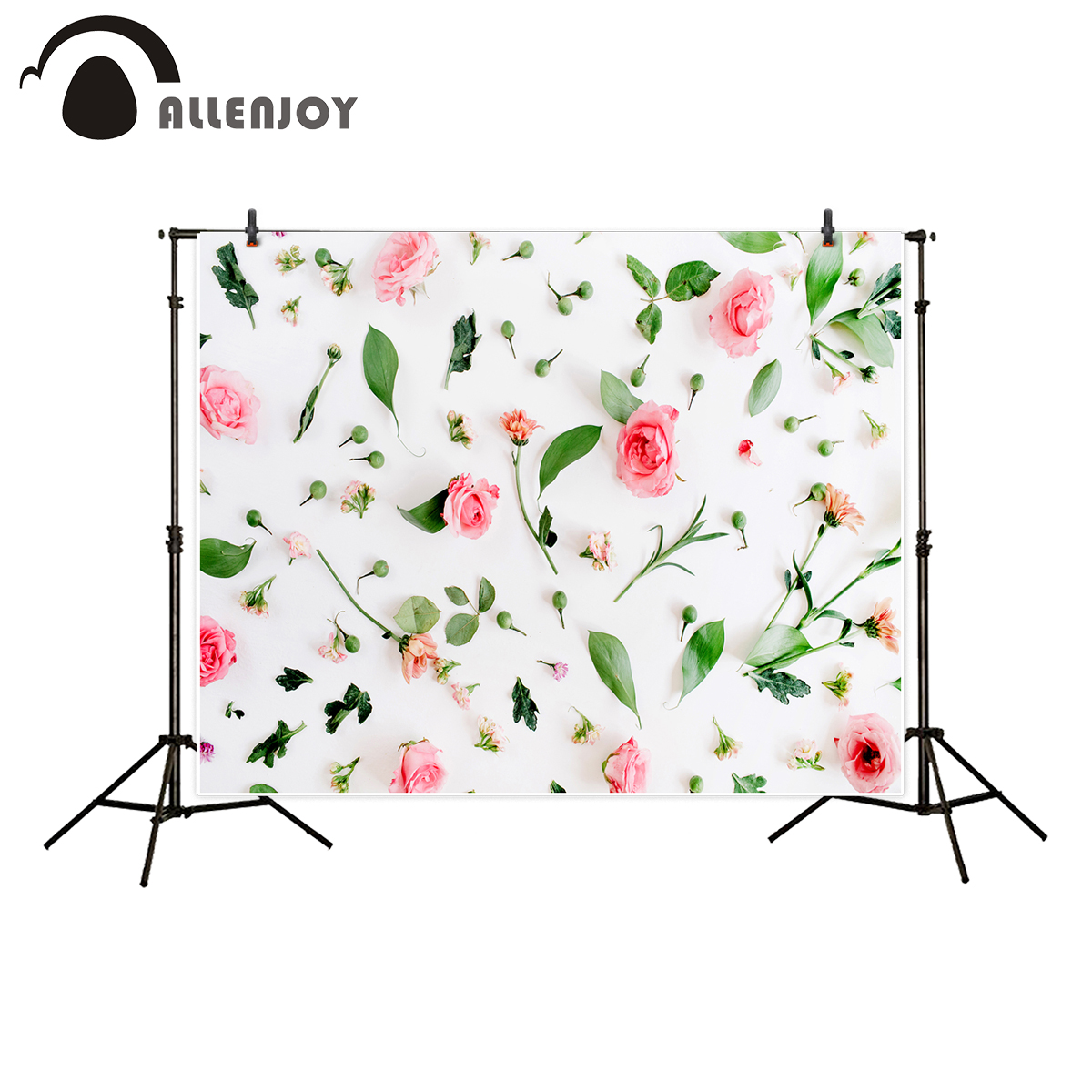 Allenjoy photography backdrop spring wedding pink rose flower leaves background photo studio printed photocall prop newborn allenjoy photography backdrop flower door wedding children painting colorful background photo studio photocall photo shoot
