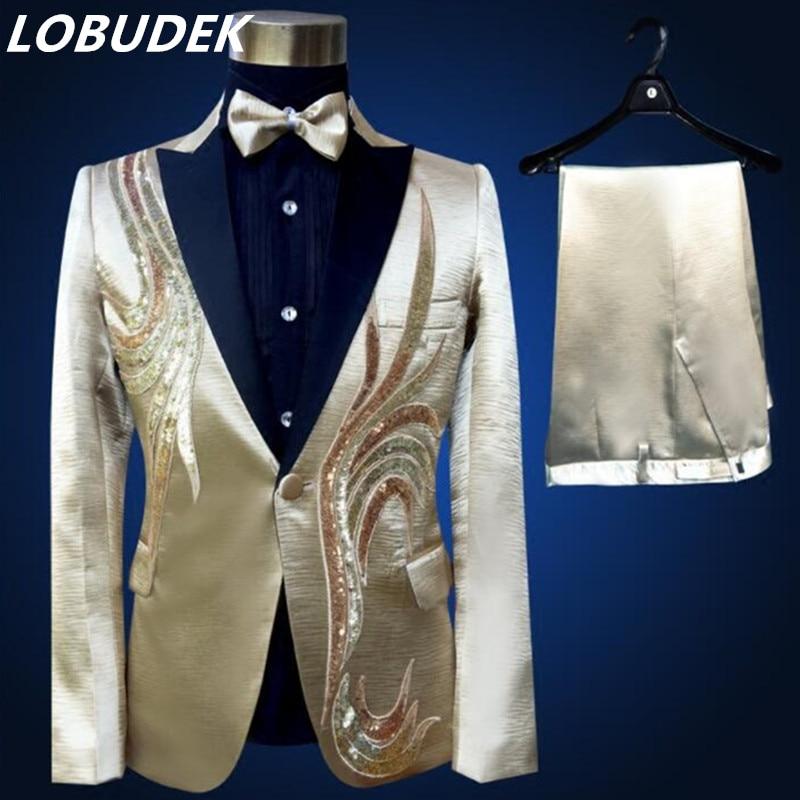 (xhaketë + pantallona + lidhëse me hark) kostum mashkull i vendosur - Veshje për meshkuj - Foto 2