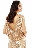 forevergracedress высокое качество дешевые блёстки платье подружки невесты новинка длинный капот сзади праздничное платье для свадьбы плюс размеры