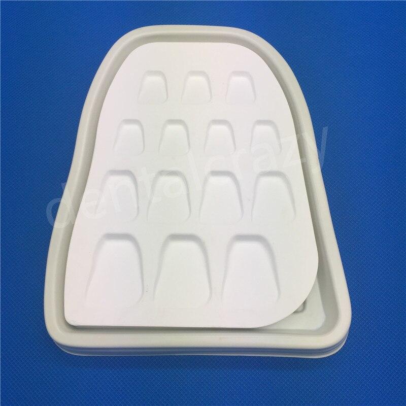 Matériel de laboratoire dentaire 14 fentes forme de dent microporeuse porcelaine arrosage plaque de mélange tache poudre outil de mélange