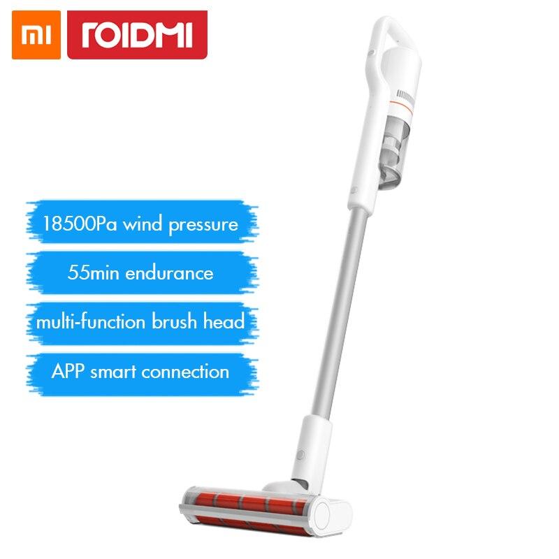 Roidmi F8 Handheld Ciclone Coletor de pó Aspirador de pó Sem Fio para Casa Tapete LED Bluetooth Multifuncional Escova Xiaomi