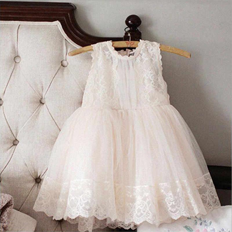 2019 Baby Girl Floral Lace Princesa Tutu Vestido de Casamento vestido de Baptizado Vestido Meninas Roupas Para Crianças Desgaste Do Partido Meninas Vestidos